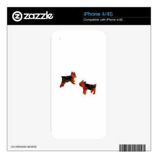 Cute Terrier Dogs Decal For iPhone 4