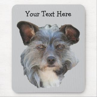 Cute Terrier Mixed Breed Mutt Dog Mousepad