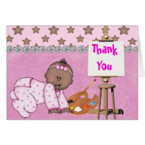 CUTE THANK YOU AFRICAN AMERICAN BABY Card