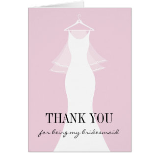Cute Thank you for being my bridesmaid cards