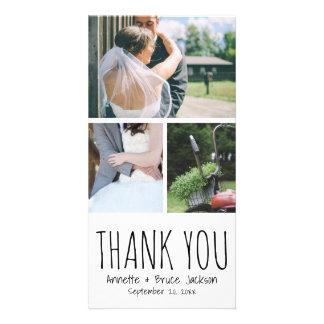 Cute Thank You Typography Script Wedding Card