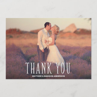 Cute Thank You White Overlay