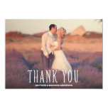 Cute Thank You White Overlay 5x7 Paper Invitation Card