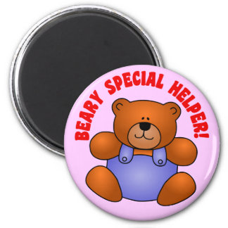 Cute Thanks to a Very Special Helper Volunteer 2 Inch Round Magnet