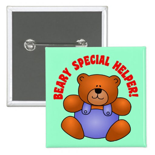 Cute Thanks to a Very Special Helper Volunteer 2 Inch Square Button