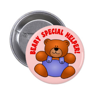 Cute Thanks to a Very Special Helper Volunteer Button