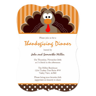 Thanksgiving Feast Dinner Invitations Announcements Zazzle