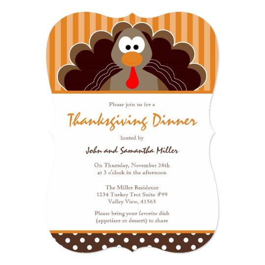cute thanksgiving dinner invitation zazzle com