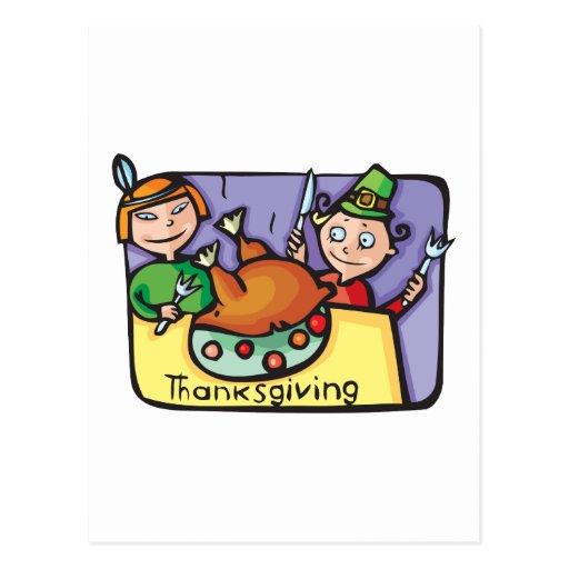 "Cute, ""Thanksgiving Dinner"" Postcard"