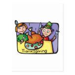 "Cute, ""Thanksgiving Dinner"" Postcards"