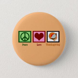 Cute Thanksgiving Orange Button