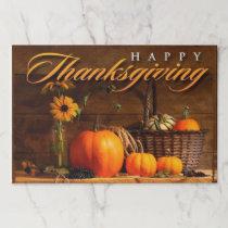 Cute Thanksgiving Pumpkin Paper Placemat