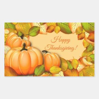 Cute Thanksgiving Pumpkin Rectangular Sticker