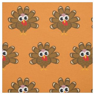 Cute Thanksgiving turkey cartoon pattern fabric