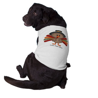 Cute Thanksgiving Turkey (customizable) Dog Clothes