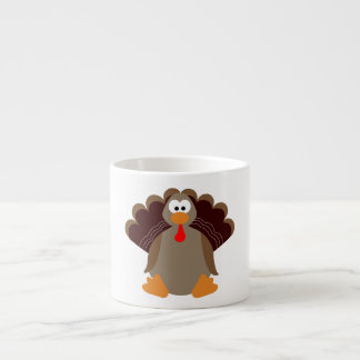 Cute Thanksgiving Turkey Espresso Cup