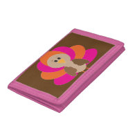 Cute Thanksgiving Turkey Fall Autumn Harvest Tri-fold Wallets