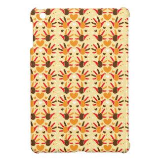 Cute Thanksgiving turkey hand prints pattern iPad Mini Cover