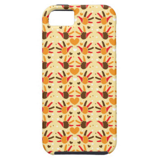 Cute Thanksgiving turkey hand prints pattern iPhone SE/5/5s Case