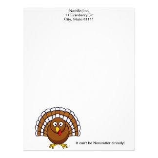 Cute Thanksgiving Turkey Letterhead