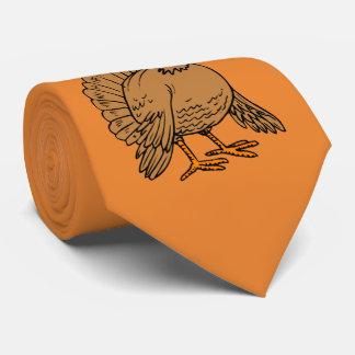 Cute Thanksgiving Turkey Pilgrim Orange Tie