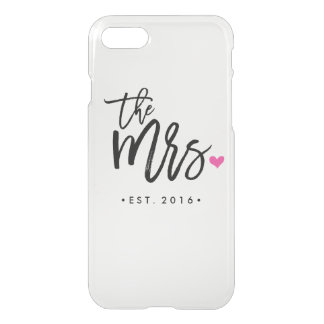 Cute The Mrs. (Est. Your Wedding Year) iPhone 7 Case