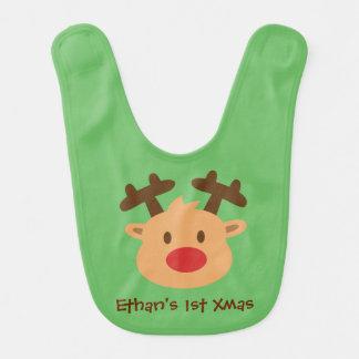 Cute the red nosed reindeer 1st Xmas Bib