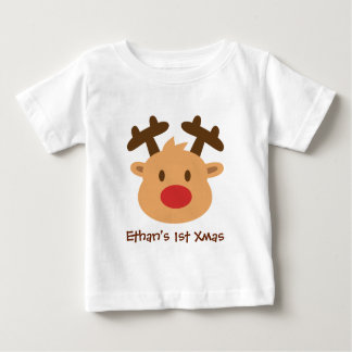 Cute the red nosed reindeer 1st Xmas T-shirt