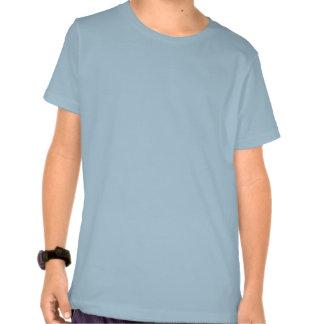 Cute three eyed alien blue and green kids t-shirt
