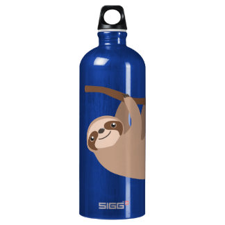 Cute Three-Toed Sloth Aluminum Water Bottle