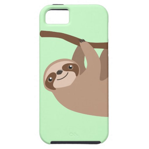 Cute Three-Toed Sloth iPhone 5 Case