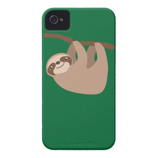 Cute Three-Toed Sloth iPhone 4 Cover