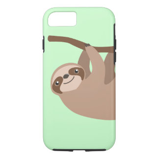 Cute Three-Toed Sloth iPhone 7 Case