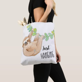 Cute Three Toed Sloth Just Hanging Bag