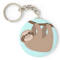 Cute Three-Toed Sloth Keychain