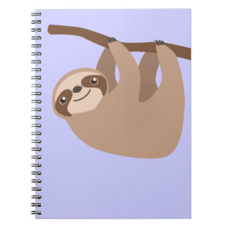 Cute Three-Toed Sloth Spiral Notebooks