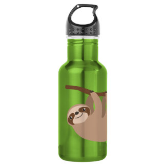 Cute Three-Toed Sloth Stainless Steel Water Bottle