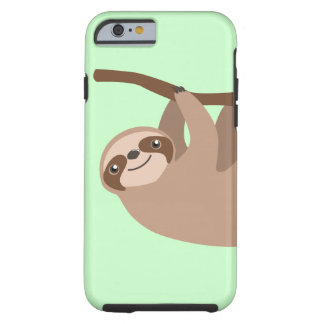 Cute Three-Toed Sloth Tough iPhone 6 Case