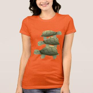 Cute Three Tutles Stacked Terrapin T-Shirt