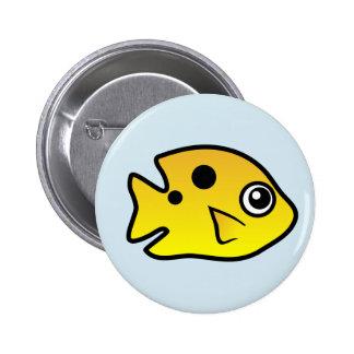 Cute Threespot Damselfish Pinback Button