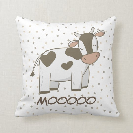 Cute Throw Pillow Nursery Decor Kids Cow