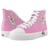 Cute Thumbs Up Bunny With big Orange Nose High-Top Sneakers