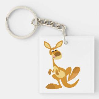 Cute Thumping Cartoon Kangaroo Acrylic Keychain
