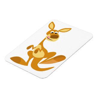 Cute Thumping Cartoon Kangaroo Flexible Magnet