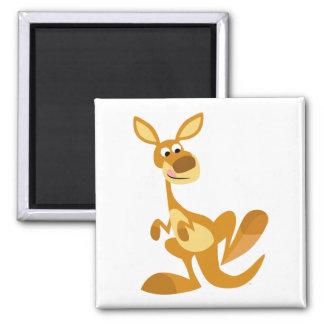 Cute Thumping Cartoon Kangaroo Magnet