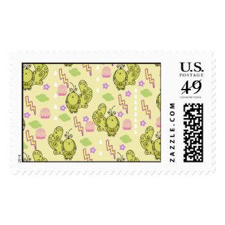 Cute Thunder Bird Yellow Pattern Stamps