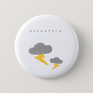 Cute Thunderstorm Button
