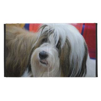 Cute Tibetan Terrier Dog iPad Folio Cases
