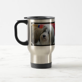 Cute Tibetan Terrier Dog Travel Mug