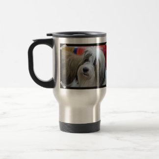 Cute Tibetan Terrier Dog Travel Mug